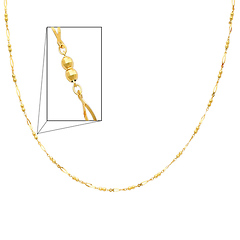 14K Yellow Gold Fancy Designer Necklace with Spring-ring Clasp