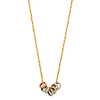 CZ Stackable Mini Eternity Circle Necklace in 14K Tricolor Gold thumb 1