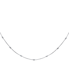 Designer Bead Women's Link 14K White Gold Necklace