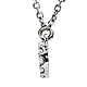 Round-Cut Diamond Petite Infinity Necklace - 14K White Gold 16in thumb 1