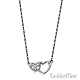 Mother Child Double Heart CZ Pendant in 14K White Gold thumb 1