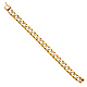 Men's 10mm 14K Yellow Gold Carved Square Cuban Link Chain Bracelet 8.5in thumb 2