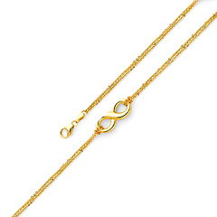 Floating Infinity Double Link Bracelet in 14K Yellow Gold