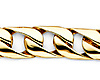 8mm Men's 14K Yellow Gold Oval Curb Cuban Link Chain Bracelet 8in thumb 1