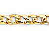 6mm Men's 14K Yellow Gold Oval Nugget Curb Cuban Link Chain Bracelet 7in thumb 1