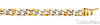 6mm Men's 14K Tricolor Gold Nugget Curb Cuban Link Bracelet 7in thumb 1