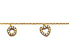 Good Luck CZ Charm Anklet in 14K Yellow Gold - Women thumb 1