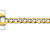 3mm 14K Two-Tone Gold White Pave Curb Cuban Link Chain Bracelet 7in thumb 1