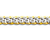 4mm 14K Two Tone Gold White Pave Curb Cuban Link Bracelet thumb 1