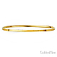 2mm High Polished Domed Solid 14K Yellow Gold Bangle Bracelet thumb 1