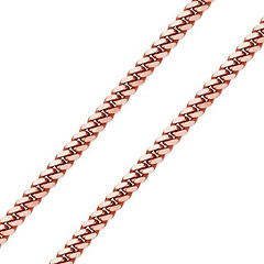 4mm 14K Rose Gold Men's Miami Cuban Link Chain