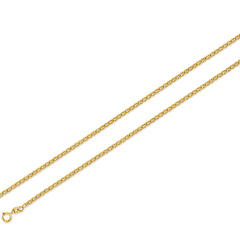 2mm 14K Yellow Gold Mariner Chain 16-24in.