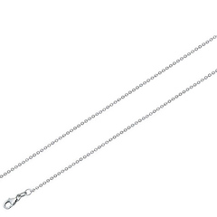 0.9mm 14K White Gold Micro Rolo Link Chain Necklace 16-30in
