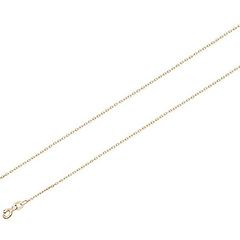 1.0mm 18K Yellow Gold Micro Link Chain Necklace