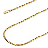 2mm 14K Yellow Gold Miami Cuban Link Chain Necklace 16-24in thumb 1