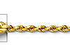 2.5mm 14K Yellow Gold Diamond-Cut Rope Chain Necklace - Heavy 18-24in thumb 1