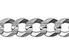 7mm Sterling Silver Men's Curb Cuban Link Chain Necklace 20-30in thumb 1