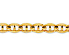 4mm 14K Yellow Gold Men's Concave Mariner Chain Necklace 18-24in thumb 1