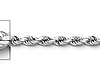 2.5mm Sterling Silver Diamond-Cut Rope Chain Necklace 16-30in thumb 1