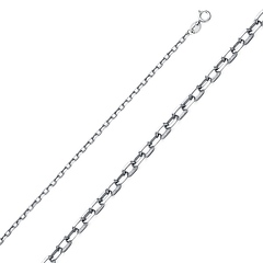 1.3mm Sterling Silver Anchor Link Chain Necklace 16-20in