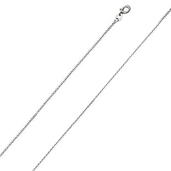 1.5mm Platinum Micro Rolo Link Chain Necklace 16-20in