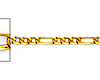 2.3mm 14K Yellow Gold Figaro Link Chain Necklace 16-24in - Lite Solid thumb 1
