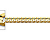 3mm 14K Yellow Gold Concave Curb Cuban Link Chain Necklace 16-24in thumb 1