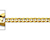 2.5mm 14K Yellow Gold Concave Curb Cuban Link Chain Bracelet 7in thumb 1