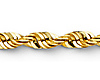 4mm 14K Yellow Gold Men's Diamond-Cut Rope Chain Necklace 20-26in thumb 1