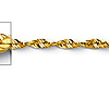 2mm 14K Yellow Gold Diamond-Cut Rope Chain Necklace 16-24in thumb 1