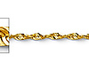 1.5mm 14K Yellow Diamond-Cut Gold Rope Chain Necklace 16-24in thumb 1