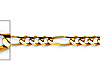 3mm 14K Yellow Gold Figaro Link Chain Bracelet 7in thumb 1