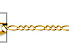 2.5mm 14K Yellow Gold Figaro Link Chain Necklace 16-24in thumb 1
