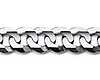 7mm 18K White Gold Men's Concave Curb Cuban Link Chain Necklace 22-30in thumb 1