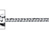 2.5mm 14K White Gold Concave Curb Cuban Link Chain Necklace 16-30in thumb 1