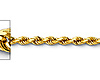 2mm 14K Yellow Gold Diamond-Cut Rope Chain Necklace - Heavy 16-24in thumb 1