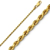 1.5mm 14K Yellow Gold Diamond-Cut Rope Chain Necklace - Heavy 16-24in thumb 0