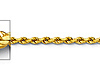 1.5mm 14K Yellow Gold Diamond-Cut Rope Chain Necklace - Heavy 16-24in thumb 1
