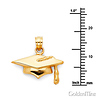 Graduation Cap Charm Pendant in 14K Yellow Gold - Mini thumb 1