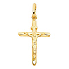 Small Tapered Crucifix Pendant in 14K Yellow Gold - Classic thumb 1