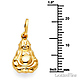 Happy Laughing God Hotei Buddha Pendant in 14K Yellow Gold - Petite thumb 1