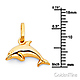 Mini Jumping Dolphin Necklace with Singapore Chain - 14K Yellow Gold 16-22in thumb 1
