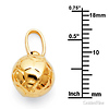 Soccer Ball Charm Pendant in 14K Yellow Gold - Mini thumb 1