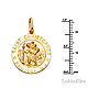 Small St. Christopher Medal Necklace with Braided Wheat Chain - 14K Yellow Gold (16-22in) thumb 1