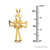 Diamond-Cut Open Small Cross Pendant in 14K Yellow Gold thumb 1