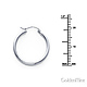 Polished Hinge Small Hoop Earrings - 14K White Gold 2mm x 0.8 inch thumb 1