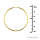 Polished Endless Large Hoop Earrings - 14K Yellow Gold 1.5mm x 2 inch thumb 1