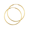Polished Endless Large Hoop Earrings - 14K Yellow Gold 1.5mm x 2 inch thumb 0