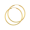 Polished Endless Large Hoop Earrings - 14K Yellow Gold 2mm x 1.8 inch thumb 0