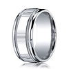 10mm Argentium Silver High Polished Milgrain Benchmark Wedding Band thumb 0